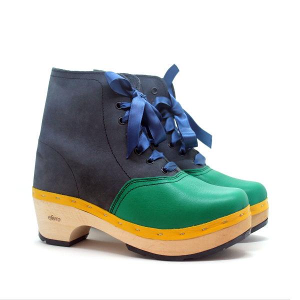 Zamancas verde-azul-amarelo. Eferro
